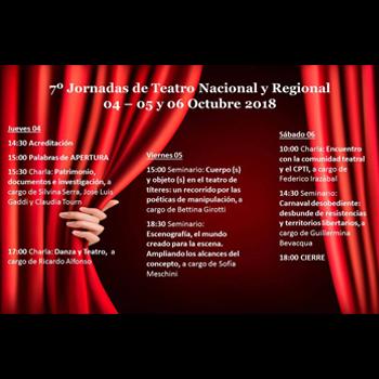 7º Jornadas de Teatro Nacional y Regional (Bahía Blanca)