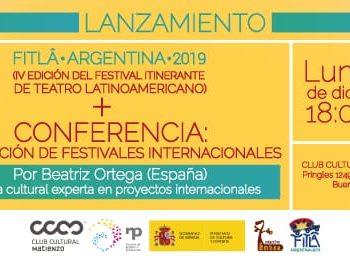 3/12: Lanzamiento FITLÂ Argentina 2019